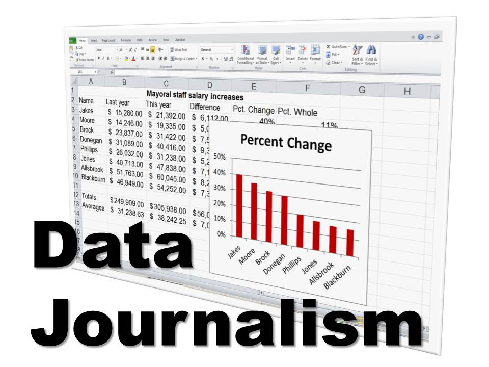 Data Journalism website graphic